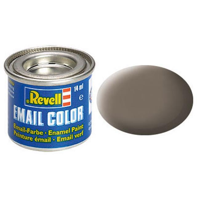 Revell email BARVA 187 -Earth Brown, Matt, 14ml, RAL 7006