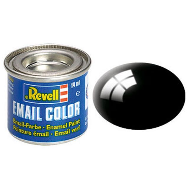 Revell BARVA 107 - Email Color, Black, Gloss, 14ml, RAL 9005